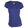 Women`s Core V-Neck Cap Sleeve Tennis Top by PRINCE