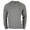 FRED PERRY Men`s Loopback Crew Sweatshirt Steel Marl