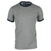 FRED PERRY Men`s Taped Ringer Tennis Tee Steel Marl