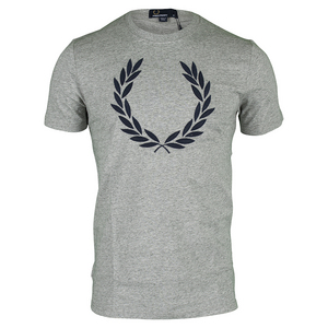 FRED PERRY MENS TEXTURED LAUREL WREATH TNS TEE VSM