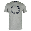 FRED PERRY Men`s Textured Laurel Wreath Tennis Tee Vintage Steel Marl
