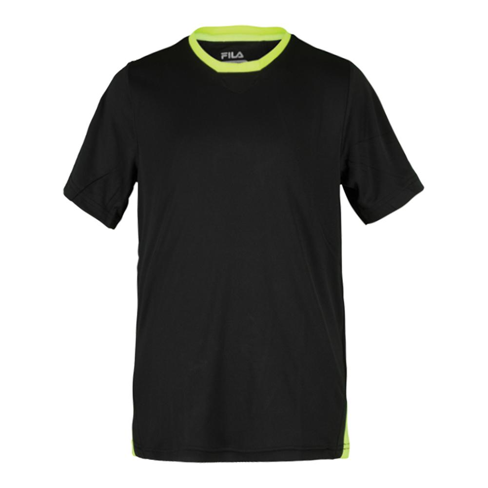 Boys ` Pro Crew Neck Tennis Top