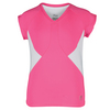 Girls` Diva Cap Sleeve Tennis Top 648_KNOCKOUT_PK/WH