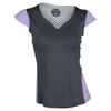 BOLLE Women`s Lavender Fields Cap Sleeve Tennis Top Graphite