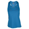 LUCKY IN LOVE Women`s V-Neck Tennis Tank Azure