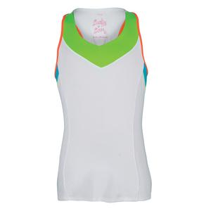 Girls` V-Neck Racerback Tennis Tank White
