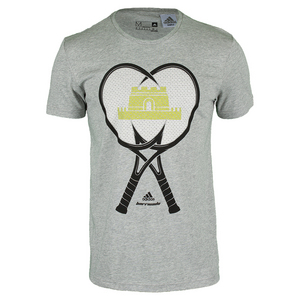 Men`s Great Wall Tennis Tee Medium Gray Heather