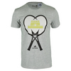 ADIDAS Men`s Great Wall Tennis Tee Medium Gray Heather