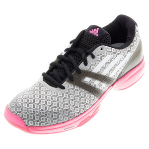Women`s Adizero Ubersonic Courtwalk Tennis Shoes Black and Pink