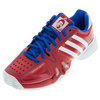 ADIDAS Men`s Novak Pro Tennis Shoes Scarlet and White