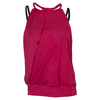 LIJA Women`s Hatha Tank Crimson and Black