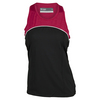 LIJA Women`s Calcutta Tennis Tank Black and Crimson