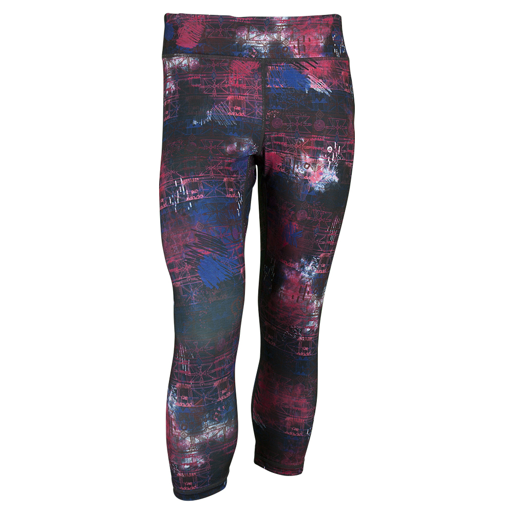 Women`s No Fear Capri Pant Black Multi