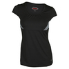 BOLLE Women`s Mystique Cap Sleeve Tennis Top Black