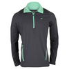 FILA Men`s Platinum 1/4 Zip Tennis Jacket Nine Iron and Electric Green