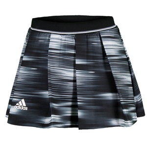 Women`s Response 12 Inch Tennis Skort Black and White