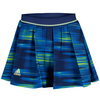 ADIDAS Girls` Response Trend Tennis Skort Midnight Indigo and Frozen Yellow