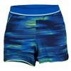 ADIDAS Women`s Response Trend Tennis Short Bold Blue and Frozen Yl