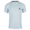 ADIDAS Men`s Ultimate Short Sleeve Tennis Crew Tee White