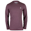 ADIDAS Men`s Climacool Aeroknit Long Sleeve Tennis Tee Maroon Heather