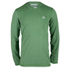 ADIDAS Men`s Climacool Aeroknit Long Sleeve Tennis Tee Raw Green Heather