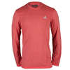 ADIDAS Men`s Climacool Aeroknit Long Sleeve Tennis Tee Vivid Red Heather