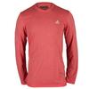 ADIDAS Men`s Climacool Aeroknit Long Sleeve Tennis Tee Vivid Red Heather