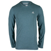 ADIDAS Men`s Climacool Aeroknit Long Sleeve Tennis Tee Viridian Heather