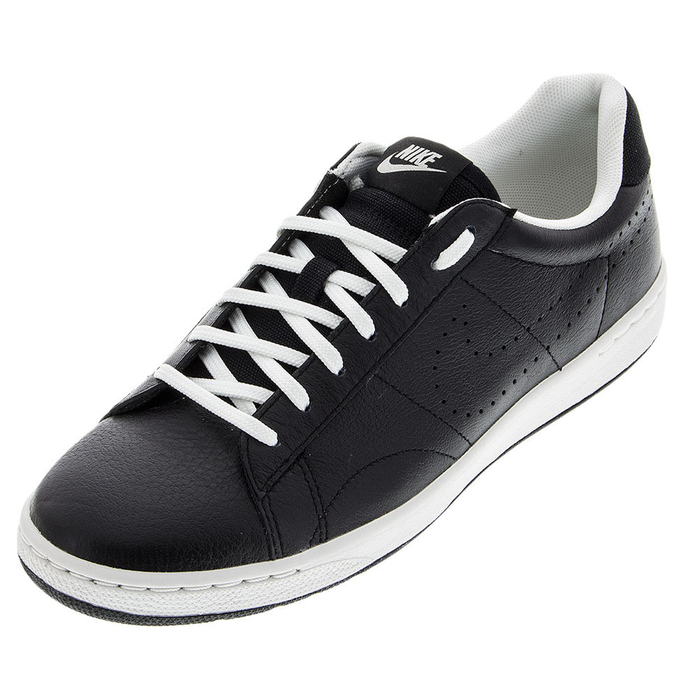 nike s classic ultra leather tennis shoes black and ivory