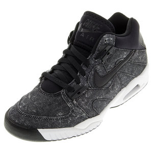 Men`s Air Tech Challenge III Tennis Shoes Black and Anthracite