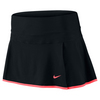 NIKE Women`s Premier 13 Inch Maria Tennis Skort Black and Hot Lava