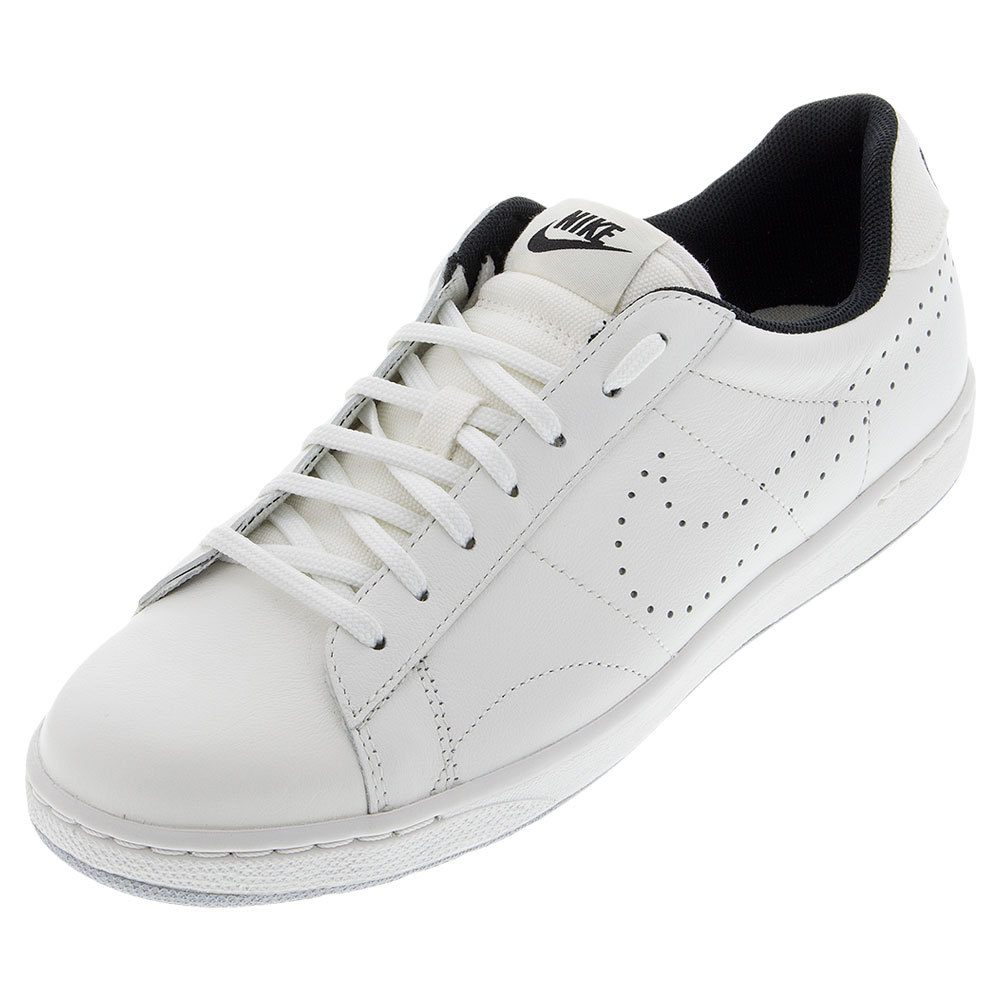 Men's Classic Ultra Leather Tennis Shoes Ivory And Black