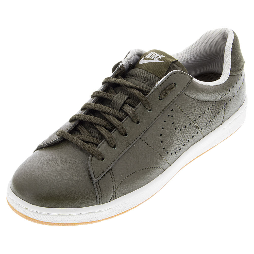 Women's Classic Ultra Leather Tennis Shoes Dark Loden And Light Bone
