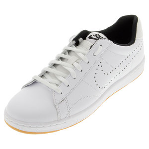 Women`s Classic Ultra Leather Tennis Shoes White and Black