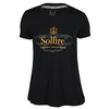 Women`s Bubbly Mixed Doubles Tennis Tee 099_ANTHRACITE