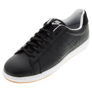 Women`s Classic Ultra Leather Tennis Shoes Black and White