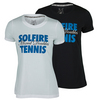 Women`s Hard Mixed Doubles Tennis Tee by SOLFIRE