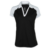 JOFIT Women`s Jo Tech Tennis Polo Black and White