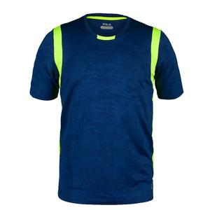 Boys` Camo Jacquard Tennis Crew Blue Depth Jacquard