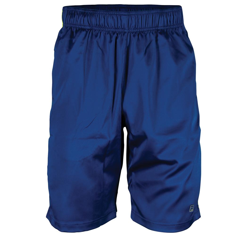 Boys ` Camo Tennis Short Blue Depths