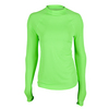 JOFIT Women`s Micro Tech UV Tennis Top Neon Green