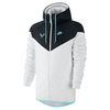 NIKE Men`s Premier Rafa Tennis Windrunner Black and White