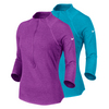 NIKE Women`s Baseline Half-Zip Tennis Top