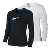 NIKE Girls` Legend Swoosh V-Neck Long Sleeve Top