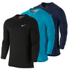 NIKE Men`s Long Sleeve Wool Tennis Henley