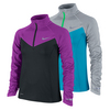 NIKE Girls` Element Half-Zip Long Sleeve Top