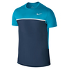 NIKE Men`s Challenger Tennis Crew Blue Lagoon and Midnight Navy