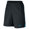 NIKE Men`s Gladiator 9 Inch Tennis Short Black and Blue Lagoon