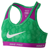 NIKE Girls` Pro Hypercool Allover Print Bra
