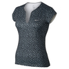 NIKE Women`s Printed Pure Tennis Top Black